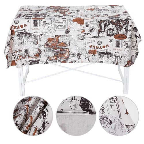 Wondder Cotton Canvas Cloth, Retro Style Dining Table Decorative Cloth, Perfect For Use In The Party, Holidays, Catering, Coffee