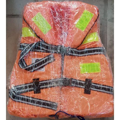 Life Jacket Vest Lightweight Multi Function Foam Reflective Jack Orange
