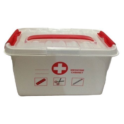 First Aid Kit Emergency Storage Box With Detachable Tray And Lid
