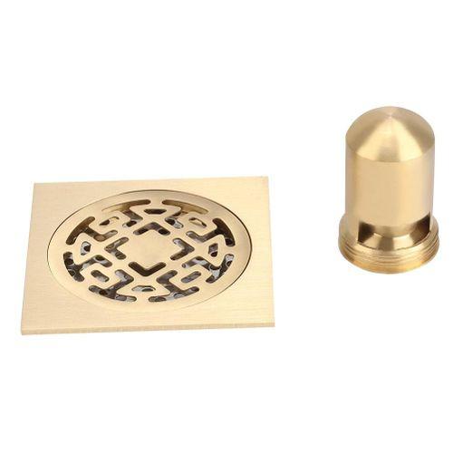Bathroom Copper Core Floor Drain Shower Drainer Anti Clogging And Odor Floor Strainer