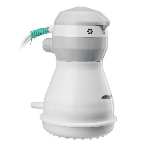 110V Electric Shower Head Instant Water Heater Hose Bracket Grey/White