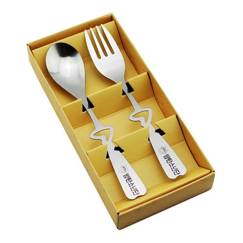 2pcs\set BTS P Cadet Regit Stainless Steel Spoon Fork