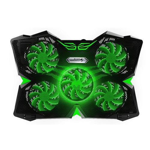 CoolcoldLaptopCoolingPadLaptopCoolingFanCoolerHeatDissipationBlack+Green