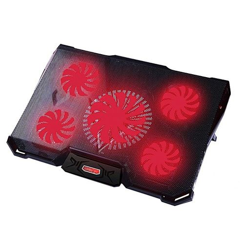 """Generic Laptop Cooling Pad Laptop Cooler With 5 Fans For 12-17.3"""" Laptop, Cooler Pad With LED Light, Dual 2 USB Ports, Adjustable Mount Stand"""