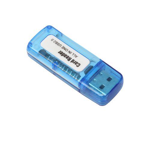 MINI USB 2.0 +OTG Micro SD/SDXC TF Card Reader Adapter U Disk PK