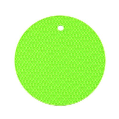 Round Coaster Non Slip Silicone Cushion Placemat Pot Holder Pan Mat Heat Resistant Mat Pad Kitchen Accessories HIS