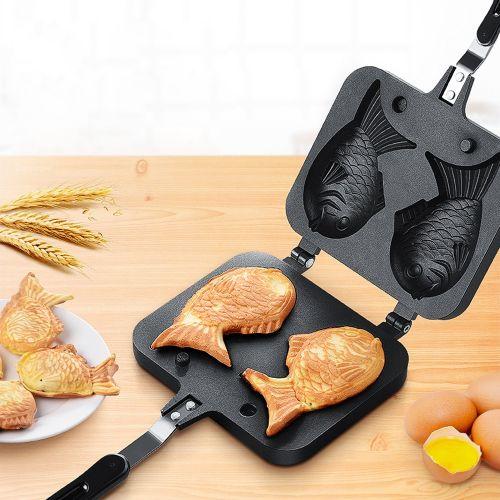 Non-stick Taiyaki Pan Fish Shape Waffle Pancake Maker For Home Cooking Bakery