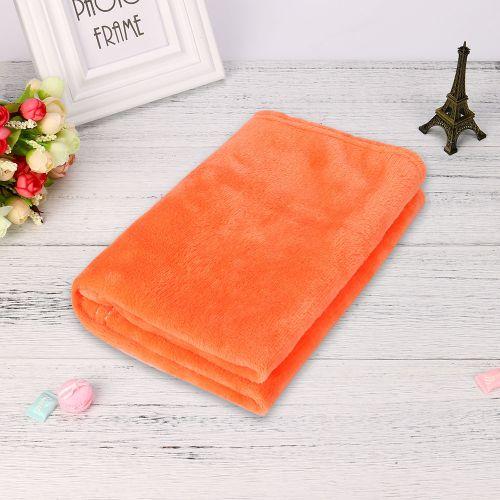 Dtrestocy 45*65CM Fashion Solid Soft Throw Kids Blanket Warm Coral Plaid Blankets Flannel