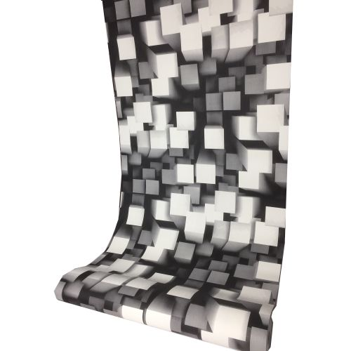 Black And White 3D Square Wallpaper