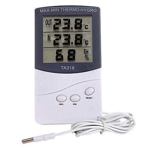 Pro High Accuracy LCD Digital Indoor Outdoor Hygrometer Humidity Thermometer Temperature Meter
