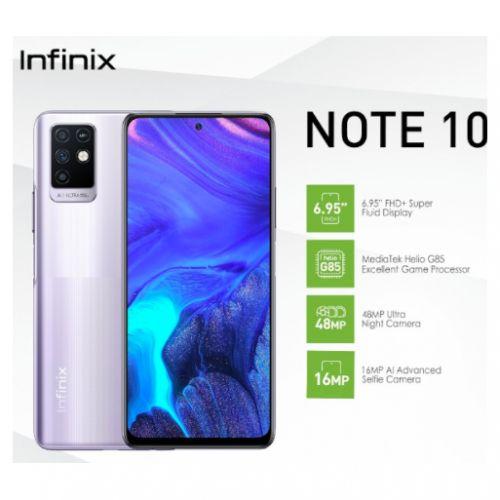 NOTE 10 (X693) 6.95-Inch (64GB, 4GB RAM) - 48MP+Quad Camera+16MP Front Camera, 5000mAh Battery-Purple