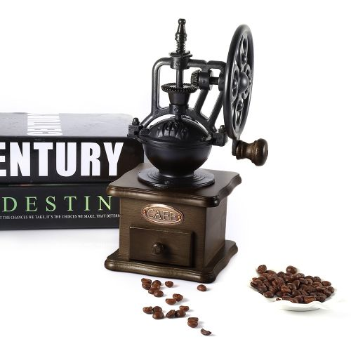 Retro Ferris Wheel Hand Grinder Coffee Bean Grinder Manual Mill Machine Ceramic Pepper Mill Household Wholesale