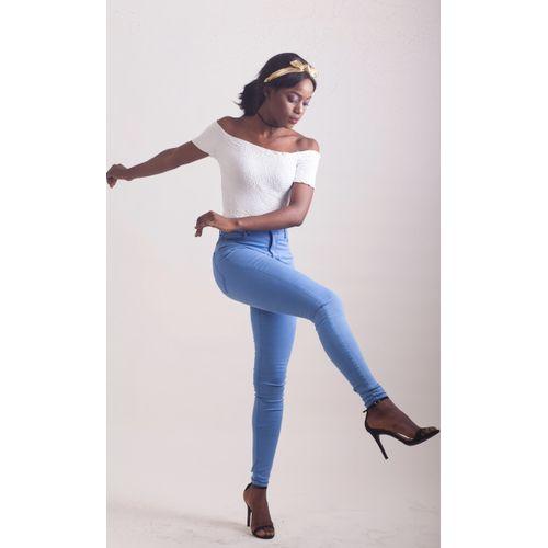 72D Skinny Stretch Jeans -Light Indigo