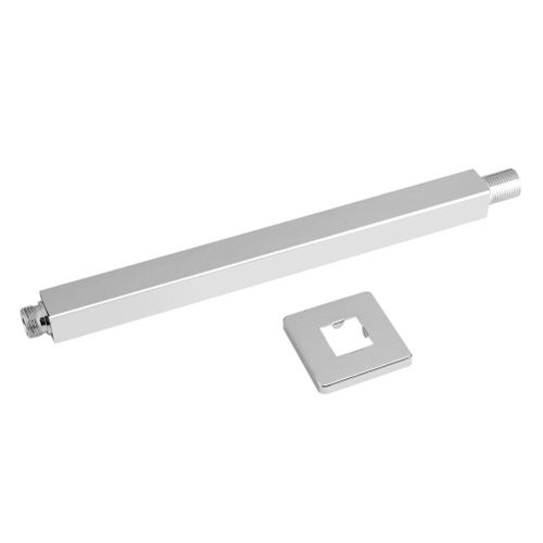 30cm Chrome Square Ceiling Shower Extension Arm Wall Mounted For Bathroom Showering Head