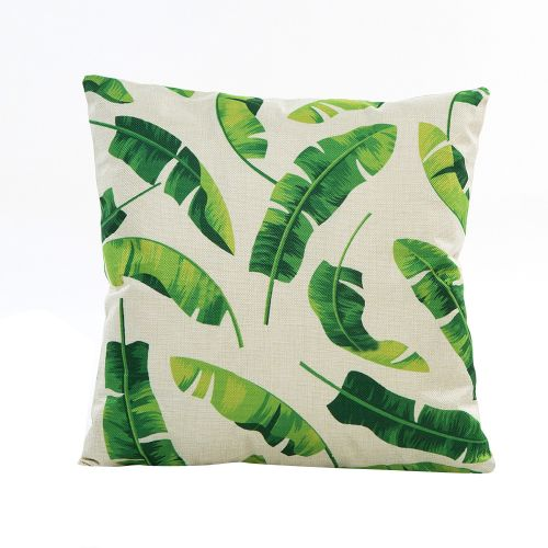 Africanmall Store Flowers Grass Pattern Pillow Sofa Waist Throw Cushion Cover Home Decor -Green