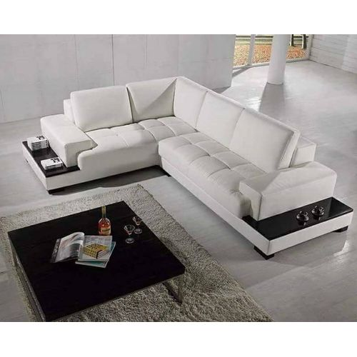 Modern L-Shaped Leather Sofa + Free OTTOMAN (LAGOS DELIVERY ONLY)