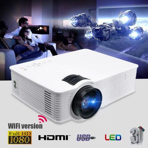 7000Lumen 1080P HD Mini Projector LED Multimedia Home Theater USB VGA HDMI TV AV? UK Plug?