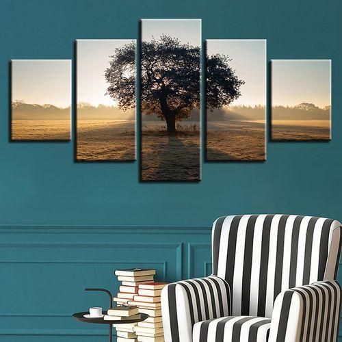 5PCS ModernTree Spray Print Canvas Wall Home Decor No Framed