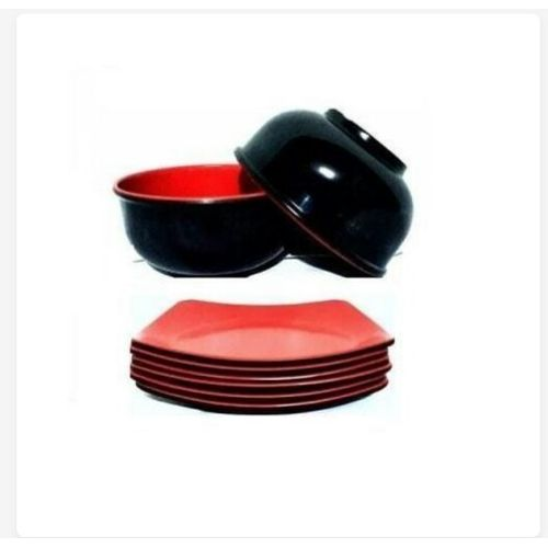 Unbreakable Ceramic 6 Flat And 6 Soup Thick Plate