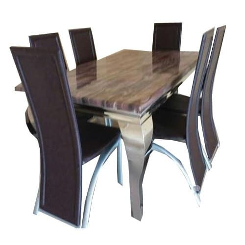 Classic Marble Dinning With 6 Chairs (Lagos Delivery Only)