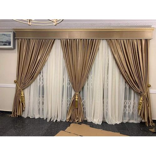 Unique Curtain With Full Accessories - Gold