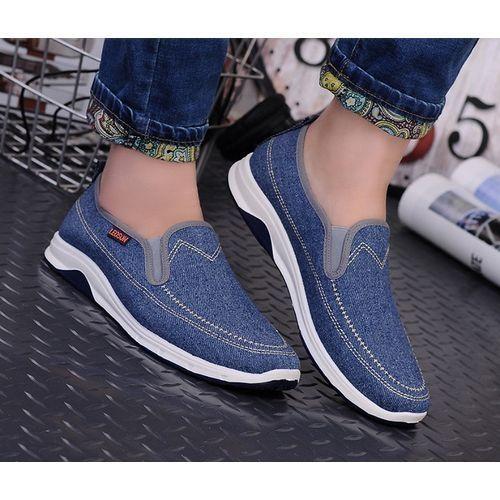 Unisex Denim Leisure Sneakers - Light Blue