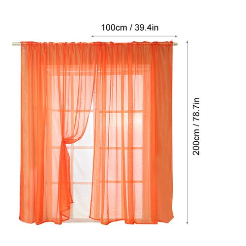 2 Panels Baby Pink Girls Room Curtains, Rod Pocket Sheer Panels Drapes For Bedroom Living Room 39Wx78L