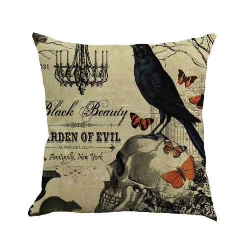Happy Halloween 45cmX45cm Pillow Cases Happy Fall Yall Linen Sofa Cushion Cover
