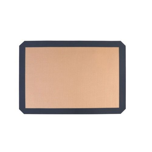 42X29.5Cm Silica Gel Fiberglass Baking Mat Macaron Pad Food Grade Silicone Gray Edge