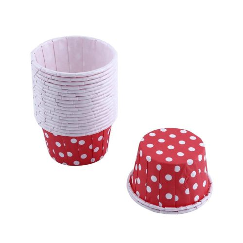 100pcs Paper Cupcake Liner Wrapper Muffin Baking Cup For Party Red