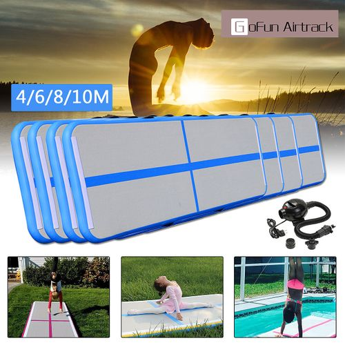 4/6/8/10M Inflatable Gym Mat Air Tumbling Track Gymnastics Cheerleading Mats W
