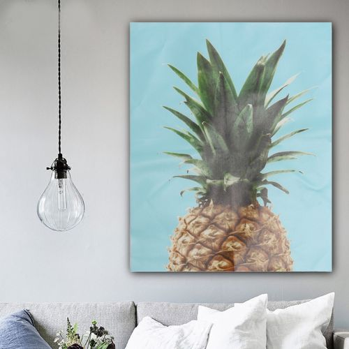 Modern Nordic Style Pineapple Simple Canvas Wall Art Poster Hanging Home Decor 40x50cm-Blue
