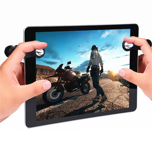 Tablet Game Controller Shooting Trigger Fire Buttons BLACK