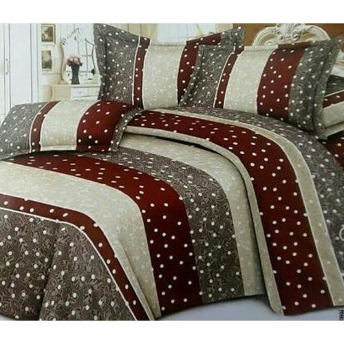 Bedsheets, Duvet With Four Pillowcases -brown Dot