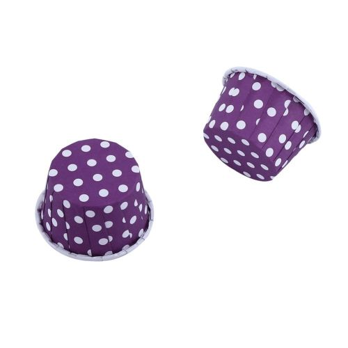 100pcs Paper Cupcake Liner Wrapper Muffin Baking Cup For Party Purple