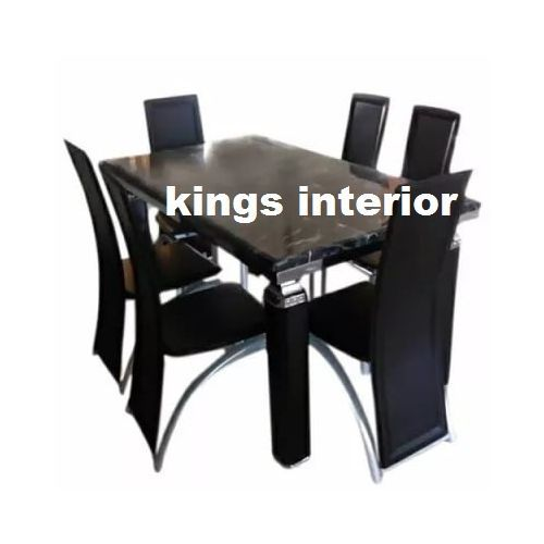 Classic Glass Dinning With 6 Chairs (Lagos Delivery Only)