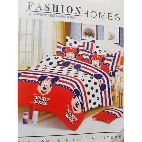 CartoonedDesign Bedsheet With Pillow Cases
