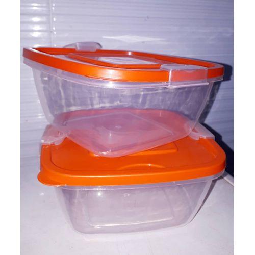 2 Piece Food Bowl With Clip Locks