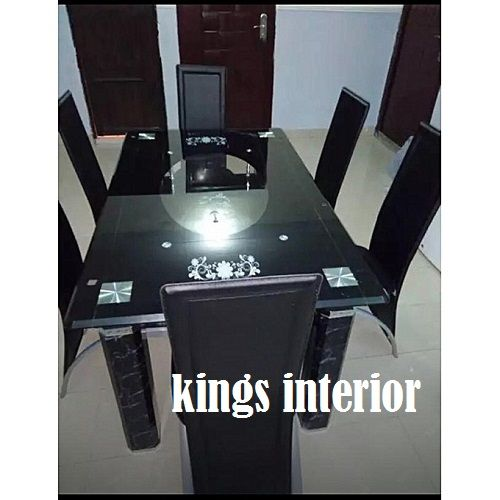 Exclusive Glass Dinning With 6 Chairs (Lagos Delivery Only)