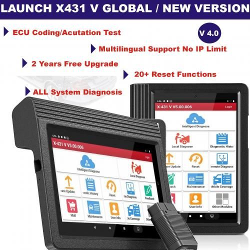 Latest Version X431 V Wi-fi Full System Cars Diagnostic Tool With 2 Years Free Update