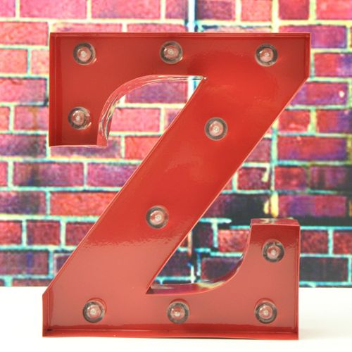 "9"" N-Z Red Alphabet LED Standing HANGING Light UP Wedding Party Decor Letters"