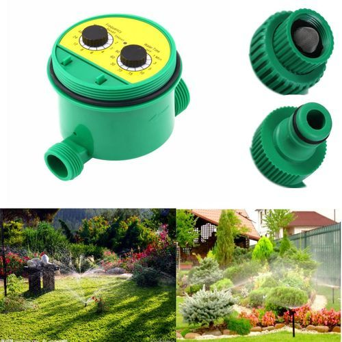 Two Dial Automatic Water Timer Garden Irrigation Controller Sprinkler Programs