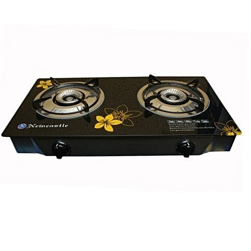 Newcastle DoubleBurner TableTop GasCooker With Glass Surface