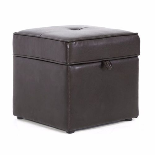 Sydney Dark Brown Faux Leather Ottoman (Delivery Within Lagos Only)
