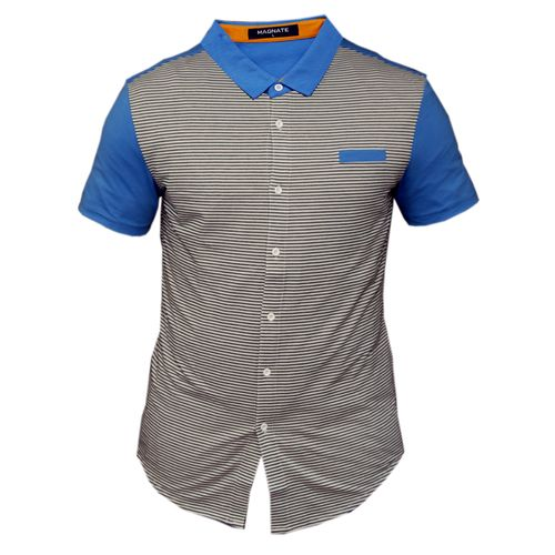 Men's Polo-T-Shirt Short-Sleeve Fitted-Multi-Colour