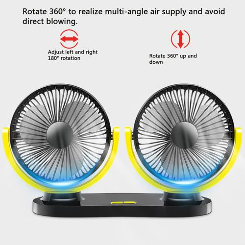 Car Truck DC 12V USB Mini Electric Fan 360? Rotatable Air Circulation
