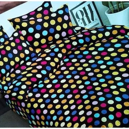 Structured Patterned Bedsheet With Pillow Cases