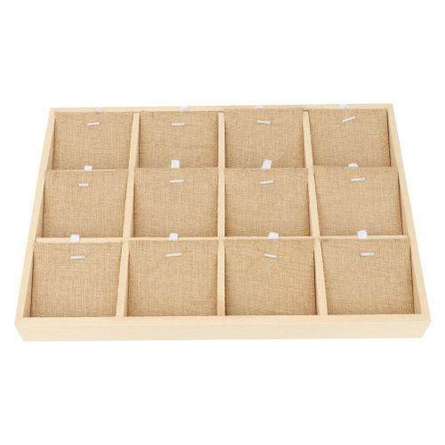 Jewelry Display Tray Multi-function Wooden Showcase Storage Case For Bangle Necklace Earring