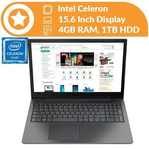 """Ideapad V130 Intel Celeron 4GB RAM 1TB HDD)15.6"""" Windows 10"""