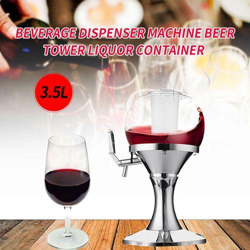 3.5L Ice Core Tower Beverage Dispenser Machine Beer